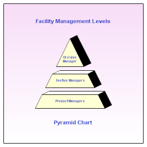 Pyramid Chart Showing Management Levels