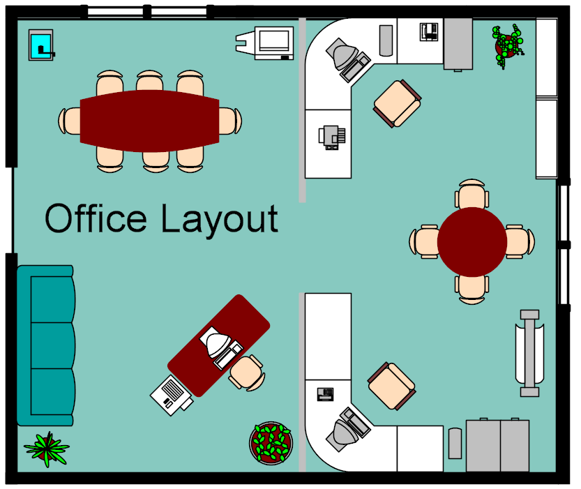 Office Layout Drawing