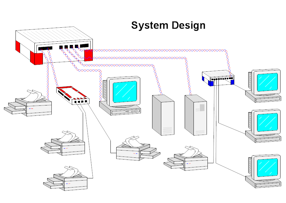 Network system design for Decor systems