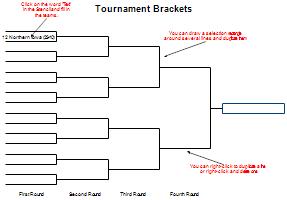 ncaa tournament bracket template